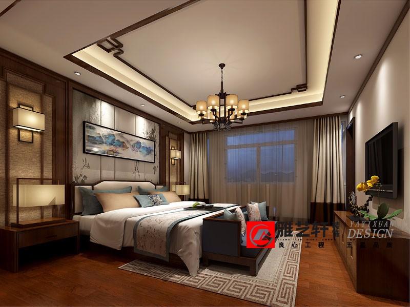 山水桃园陈总350平别墅中式风格